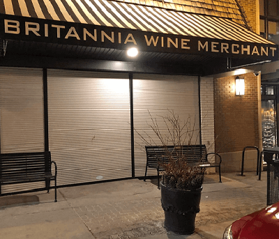 Store Front Security Shutters at commercial business