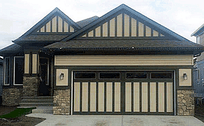 The Patterson with Optional Clear Glass custom garage door