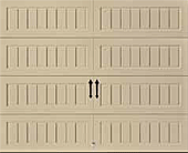 LP Bead Board Panel with Closed Square garage door