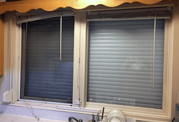Inside View of House with Roll Shutters